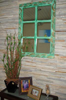 DIY - espelho em janela de demolição