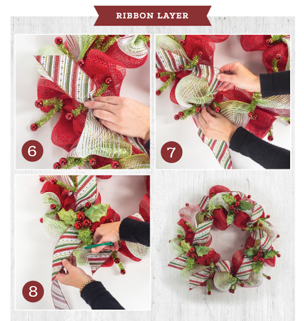 Easy Ribbon Ideas for Christmas wreath projects