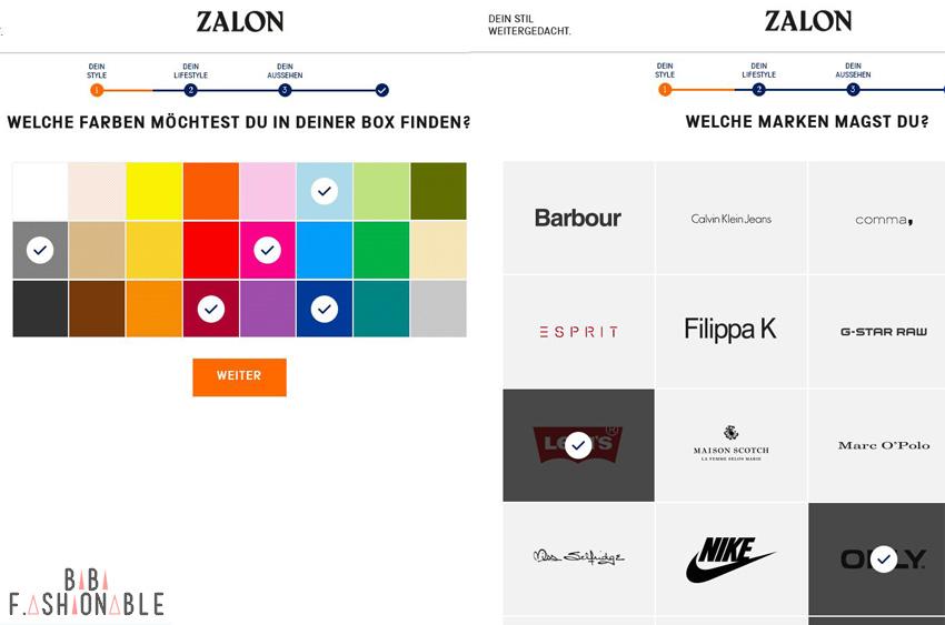 Zalon by Zalando im Test Fragebogen 2