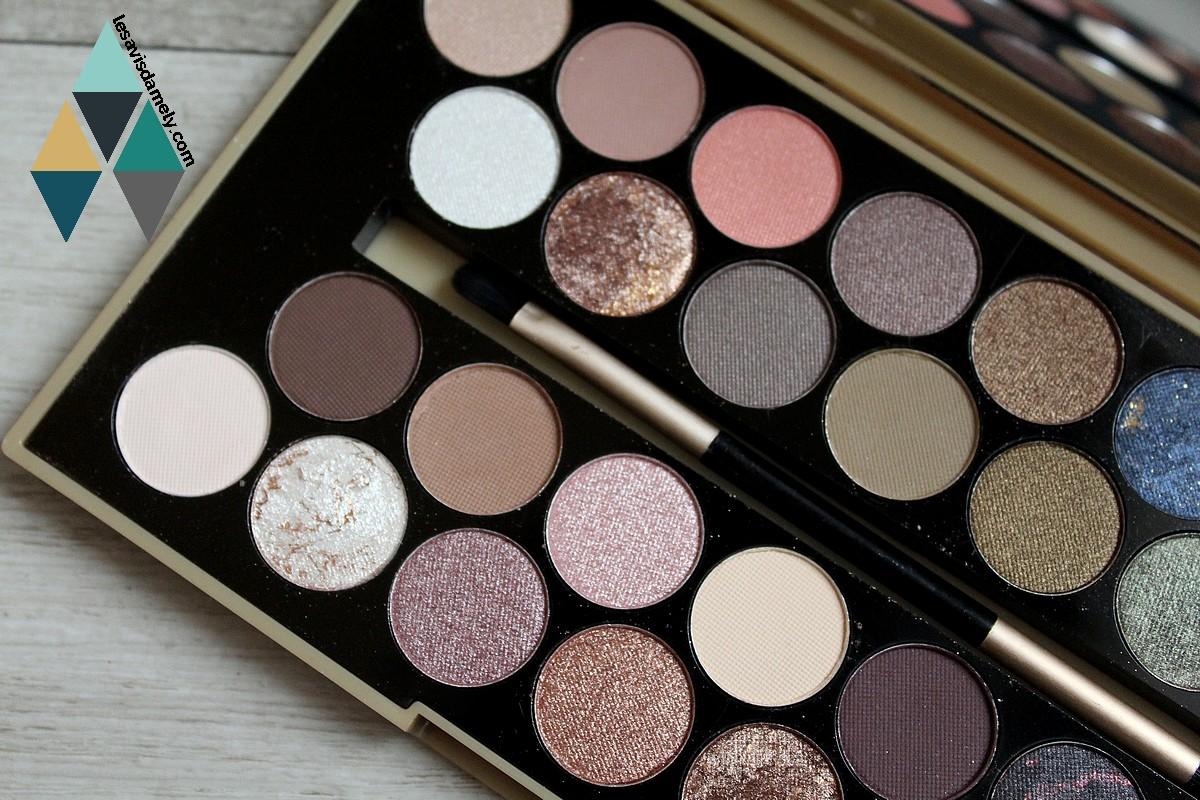 ombres à paupières palette makeup revolution