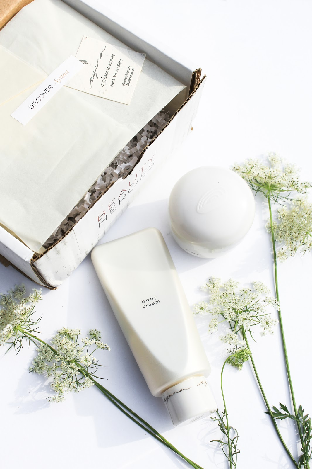 Ayuna Less is Beauty Cream Natural Rejuvenating Treatment Light and Body Cream. August Beauty Discovery by Beauty Heroes. Probiotics and prebiotics in skincare