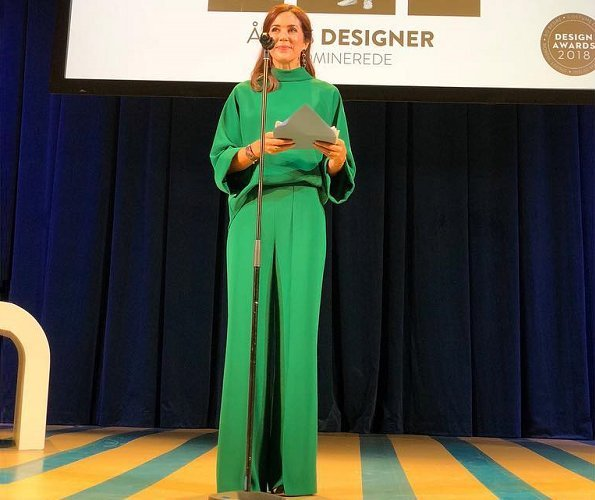 Crown Princess Mary of Denmark presented 2018 Design Awards to the winners with a ceremony held at Copenhagen Bellevue Theatre
