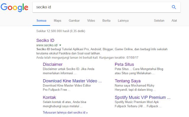 Cara Cepat Mendapatkan Sitelinks di Hasil Pencarian Google dengan Mengganti Kode Navigasi