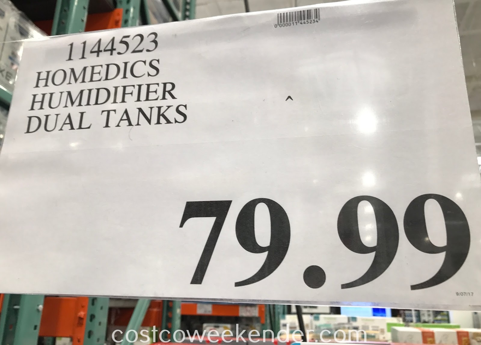 Deal for the HoMedics Total Comfort Ultrasonic Humidifier at Costco