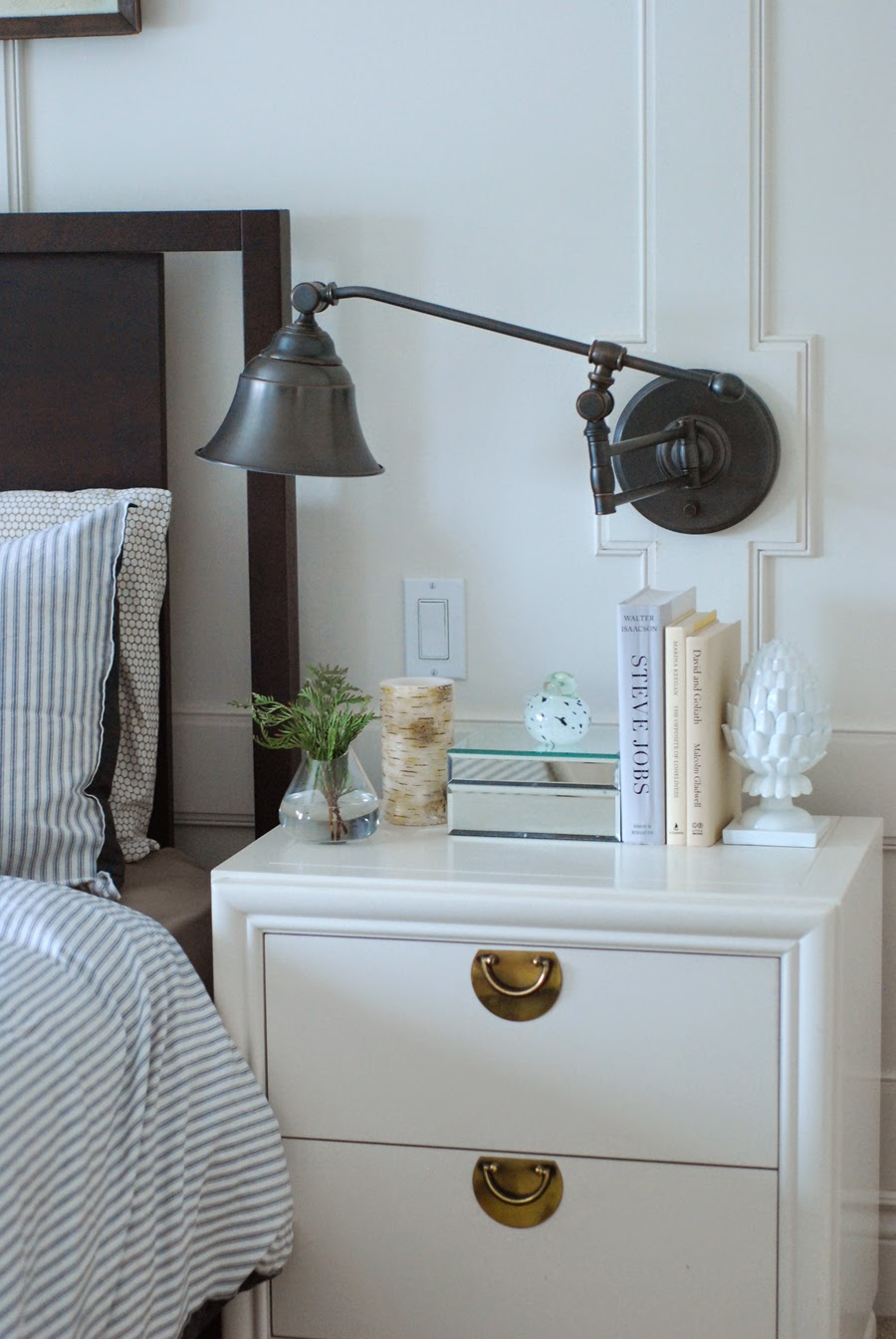 master bedroom side table white accessories