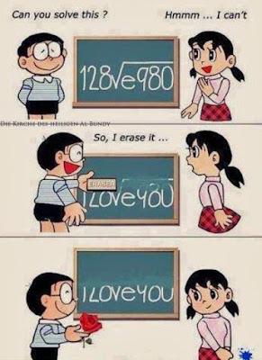 Ich Liebe Dich Comic Spruch - Junge und Mädchen - Einfallsreicher Liebesbeweis