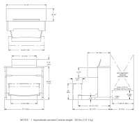 Allen Protege C8c - console dimensions
