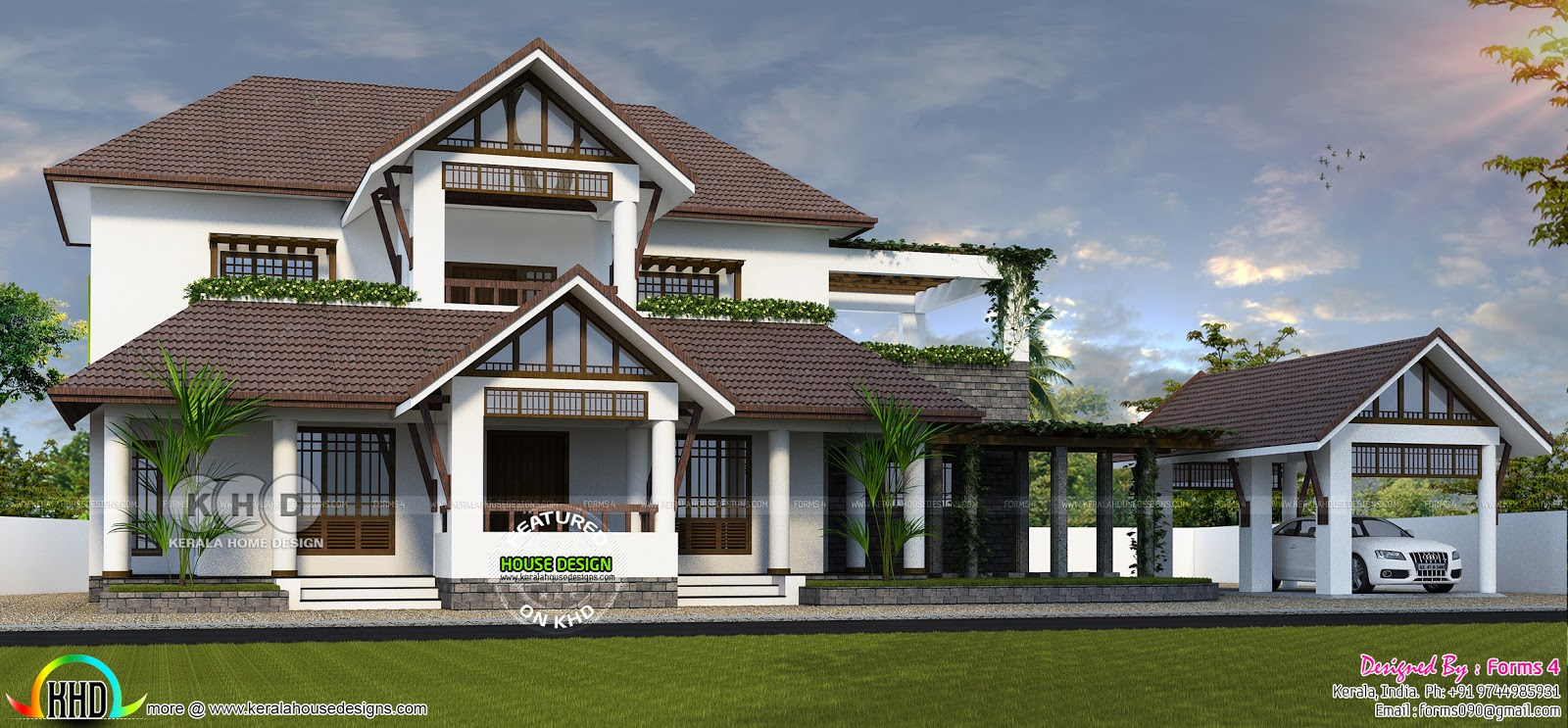 Neo Traditional Style Home Design Kerala Home Design And