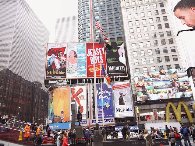 Adverts in Times Square