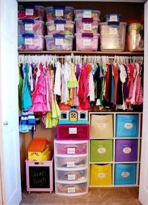 Preciosas manualidades ideas de c mo ordenar los closets for Closet para ninos