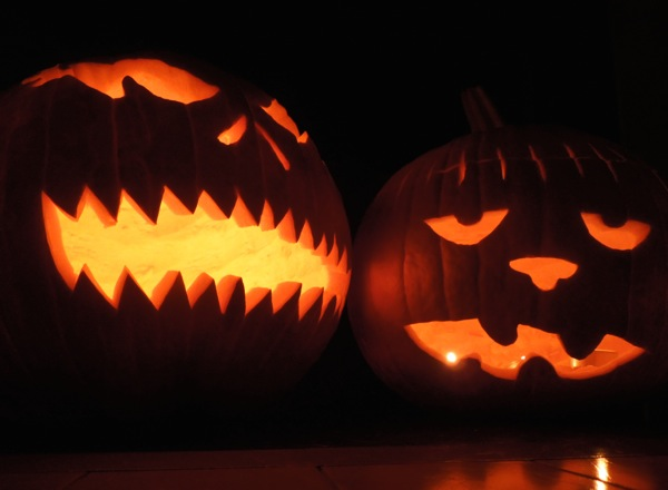 Simple carved Halloween pumpkin designs