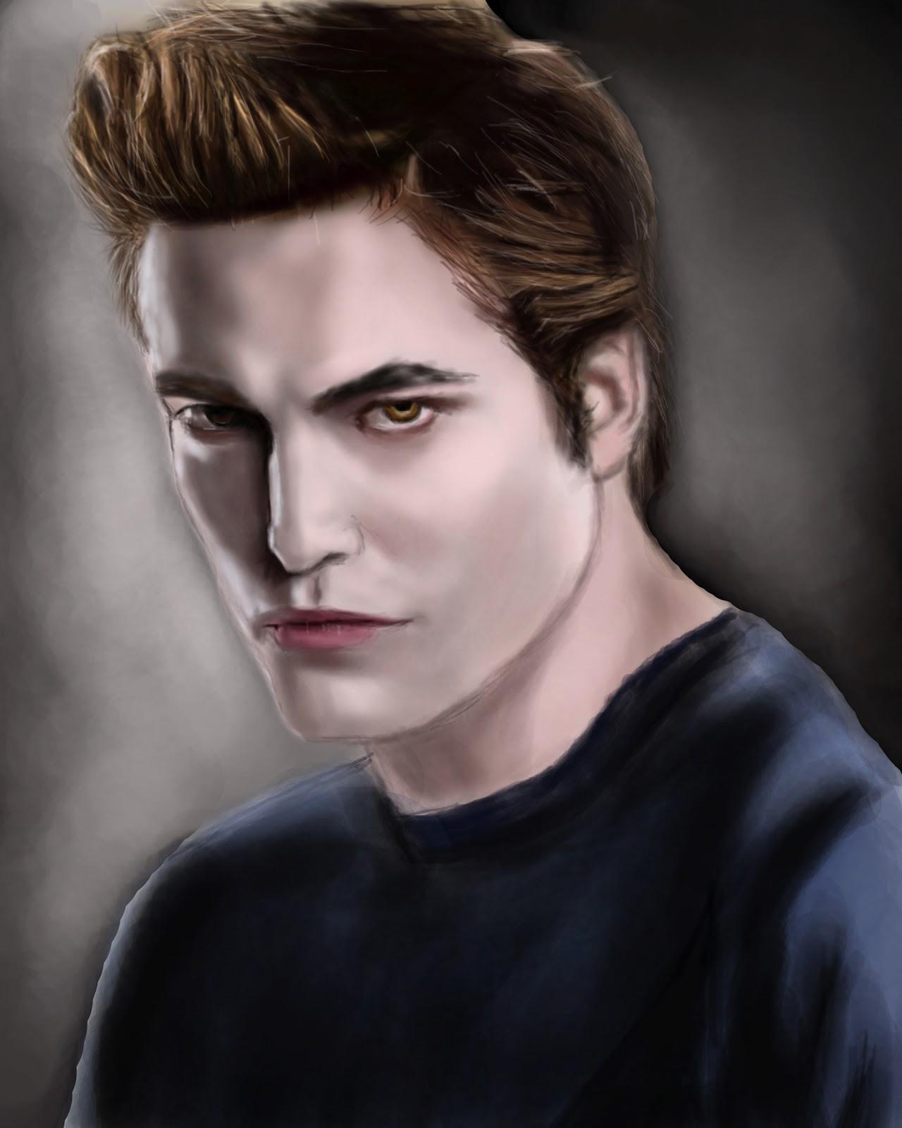 Digital Painting of Twilight Saga, Edward Cullen | a2ztuts
