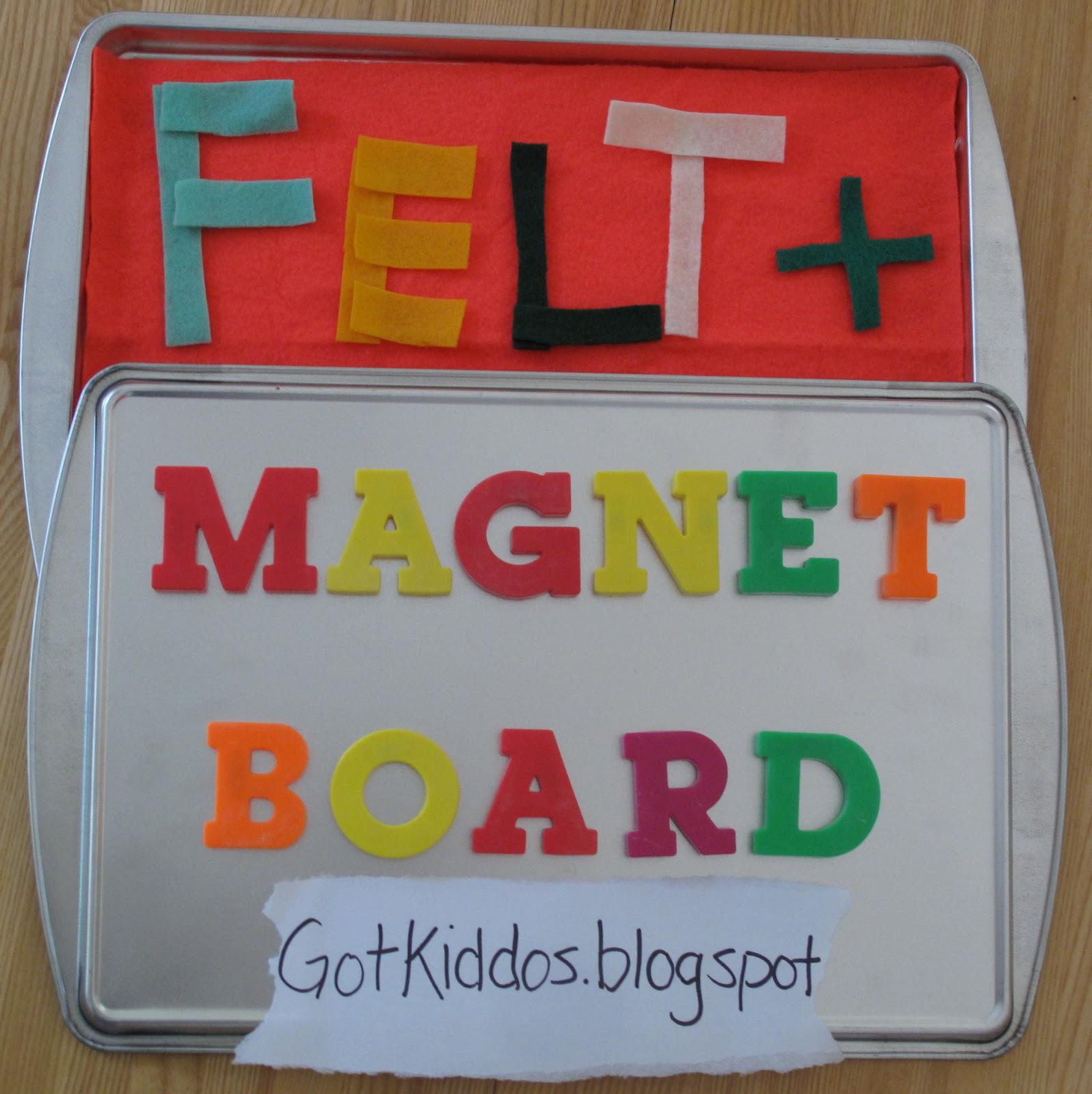 Got Kiddos?: Easy as 1-2-3: DIY Felt & Magnet Board