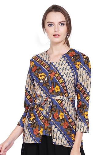 Contoh Blouse Batik Untuk Kerja