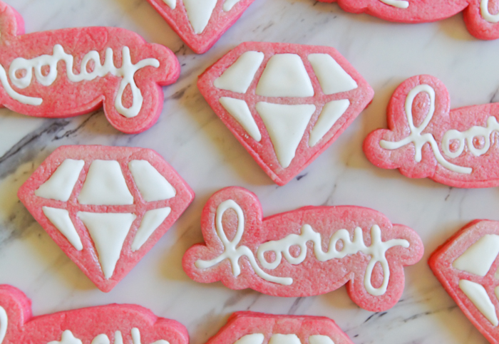 Hooray and Diamond Stamped Cookies