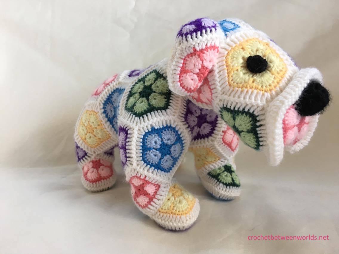 Crochet between worlds: Max the African Flower Bulldog