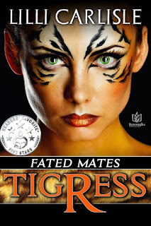 Book Cover for paranormal romance Tigress from the Fated Mates series by Lilli Carlisle .