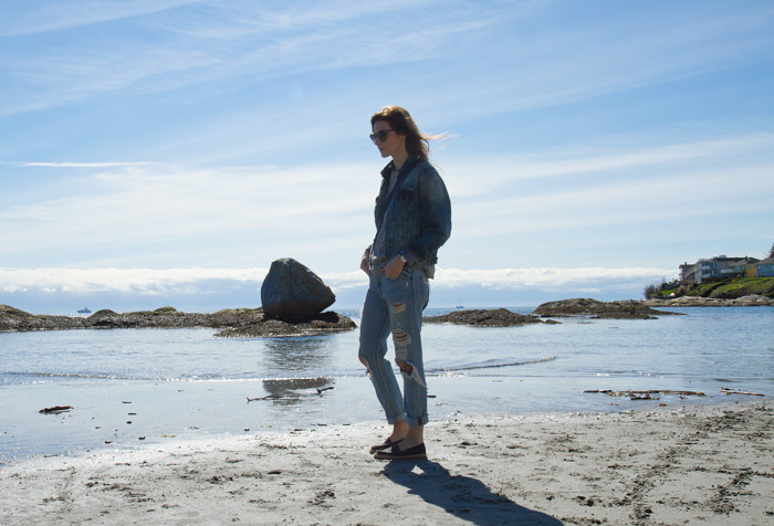 Vancouver Fashion Blogger, Alison Hutchinson, in Sanuk Shoes