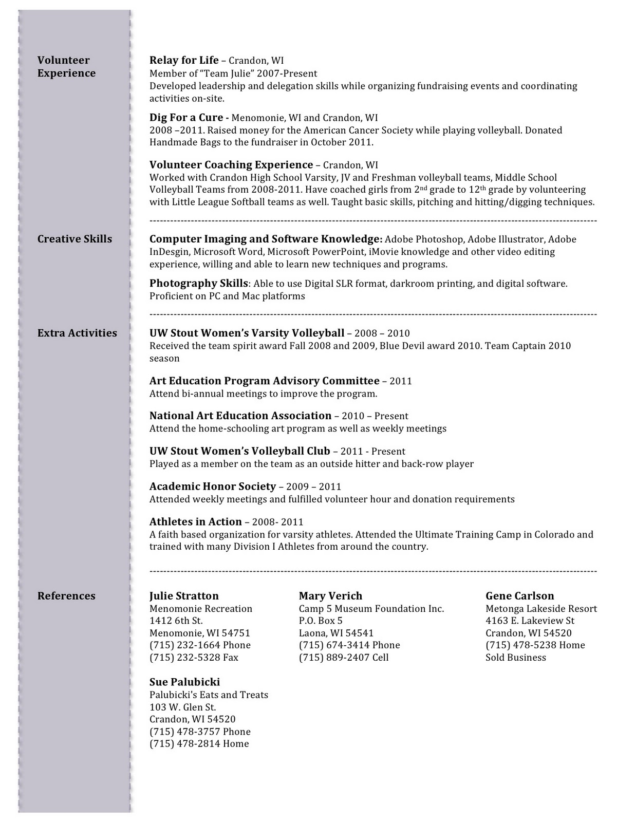 special education sample resumes