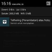 Cara Menjadikan Android Sebagai Modem WIFI dengan Tethering