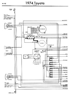 repair-manuals: Toyota Corolla 1974 Wiring Diagrams