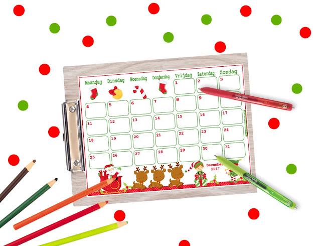 kerst kalender printen, aftellen naar kerst, adventskalender zelf maken, advent diy, kerstkalender zelf knutselen, gratis printable