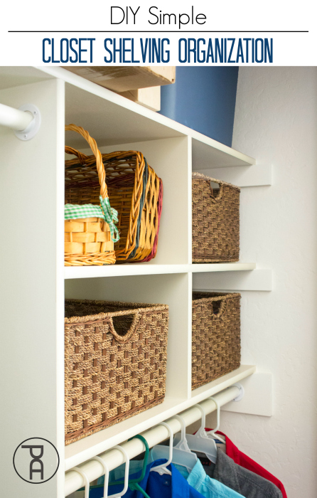 How to add storage and organization with a simple DIY closet system
