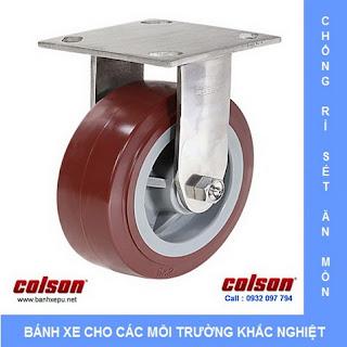 Bánh xe PU càng bánh xe đẩy inox chịu tải trọng | banhxepu.net
