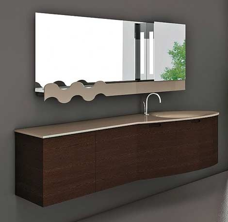 Muebles modernos para el ba o con espejos ba os y muebles for Banos modernos italianos
