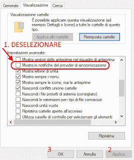 Disabilita pubblicità in Esplora File Windows 10