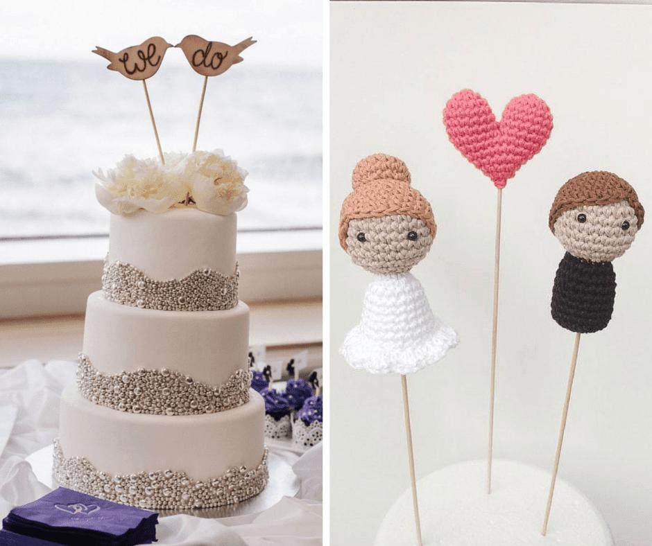 плетени фигурки за сватбена торта
