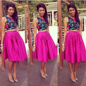 Ankara Crop Top With High Waist Skirt & Trouser Styles You Can ...