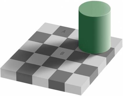ilusión óptica del mismo color
