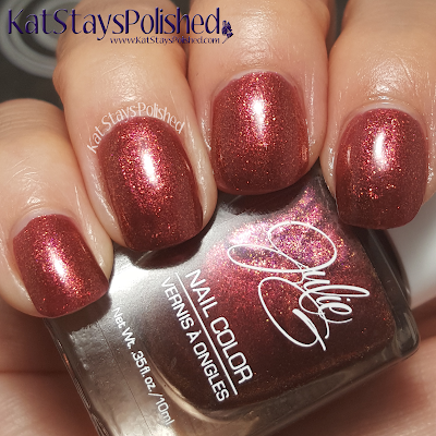 JulieG Nail Color - Core 2015 - Molten Lava | Kat Stays Polished