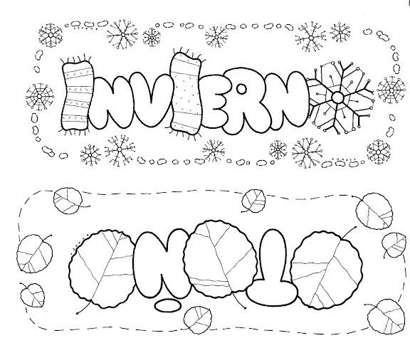 Dibujos Para Colorear No Imprimir: COLOREAR Y PINTAR: Los Colores Y Las Estaciones