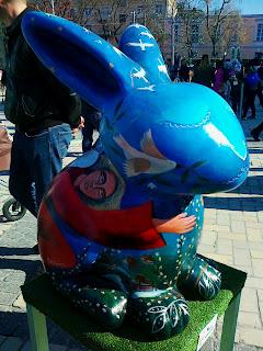 Пасхальный символ США в Киеве