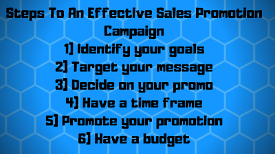 Steps to an effective sales promotion campaign