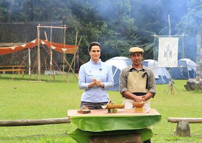 Dahoui e o chef Idolo Giusti - Crédito: Gabriel Gabe/SBT