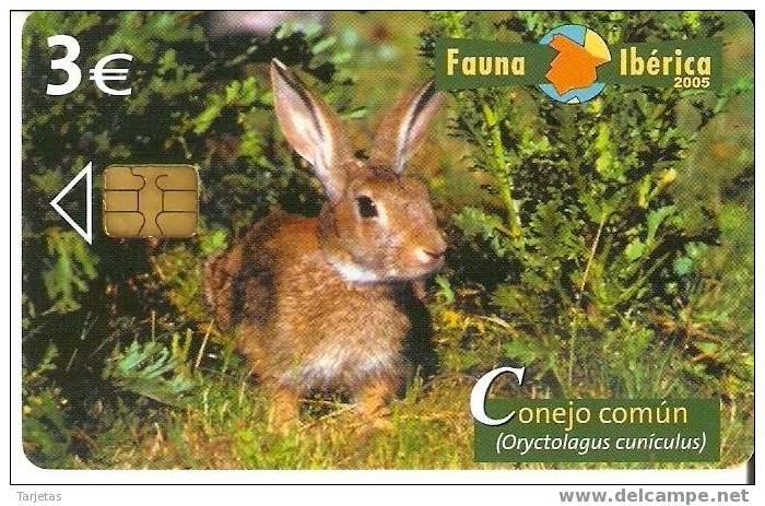 Tarjeta telefónica Conejo común (Oryctolagus cinuculus)
