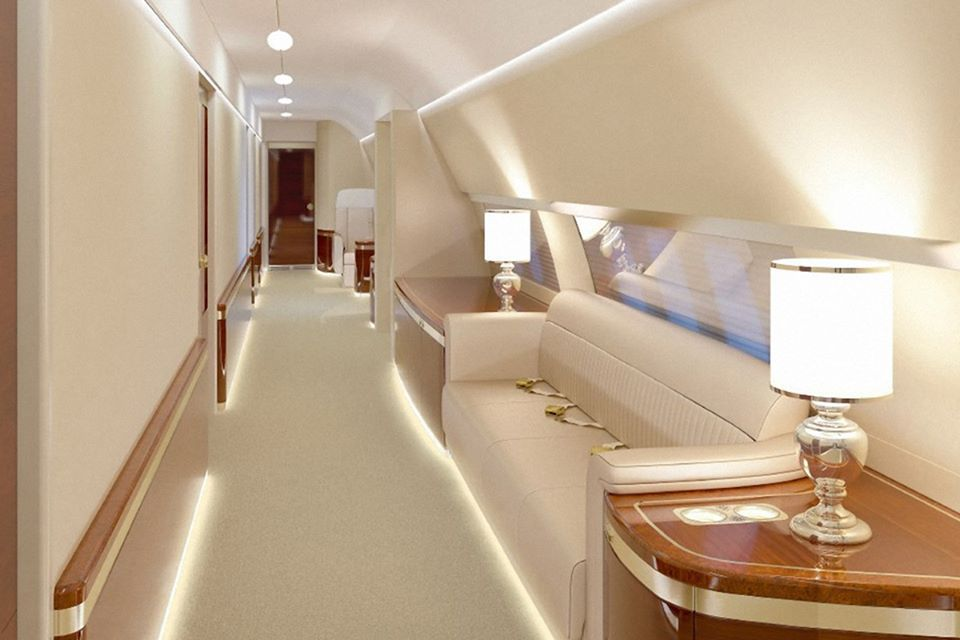 photos see inside the russian presidential plane. Black Bedroom Furniture Sets. Home Design Ideas