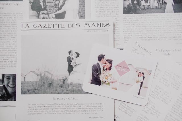 Gazette des mariés remerciements mariage