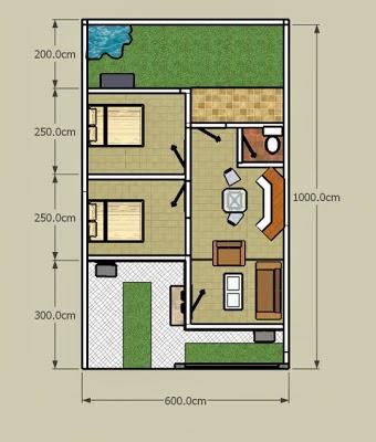 Contoh  Denah Rumah Minimalis Beserta Ukuran  Yang Bisa Anda Contoh Gratis