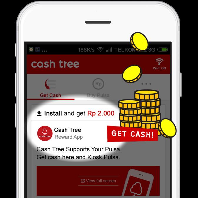 Pulsa Gratis Setiap Hari Dari Cashtree