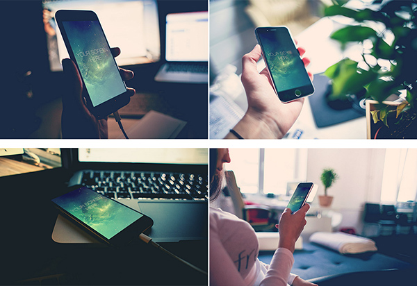 4 Iphone 6 Mockup Templates
