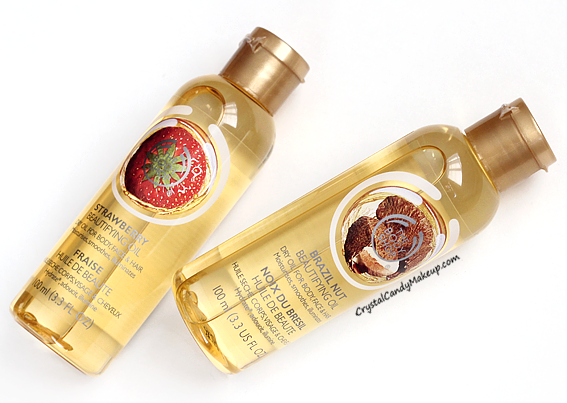 The Body Shop Beautifying Oil Strawberry Brazil Nut Review Photos