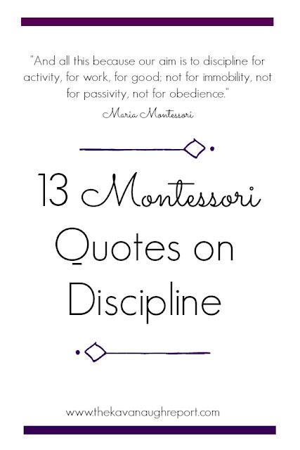 13 Montessori Quotes on Discipline, Montessori thoughts for parents