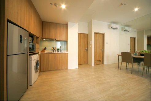 Hanson Court Suites 2BR - Kitchen