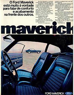 propaganda Ford Maverick - 4 portas - 1973, Ford Willys anos 70, carro antigo Ford, década de 70, anos 70, Oswaldo Hernandez,