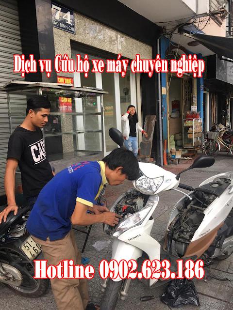 Cứu hộ xe máy Honda Vision tận nơi tại TpHCM