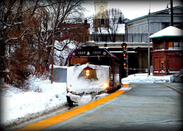 MBTA, Commuter Rail , Newburyport Bound, Salem Station, Massachusetts